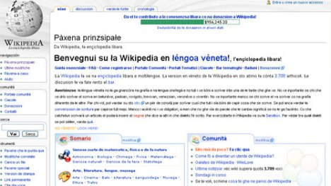 Wikipedia in lingua veneta