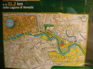 Percorso ciclictico dal centro di Treviso verso Silea, Casier, Quarto d'Altino e Jesolo